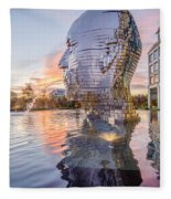 Metalmorphosis Statue Charlotte Nc Fleece Blanket
