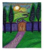 Metaphor Door By Jrr Fleece Blanket