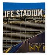 Metlife Stadium Super Bowl Xlviii Ny Nj Fleece Blanket