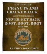 Mets Peanuts And Cracker Jack  Fleece Blanket