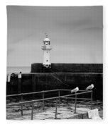 Mevagissey Lighthouse Fleece Blanket