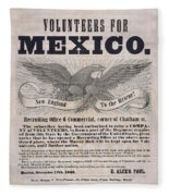 Mexican American War Flyer Fleece Blanket