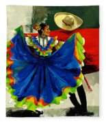 Mexican Dancers Fleece Blanket