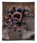 Mexican Redknee Tarantula Fleece Blanket