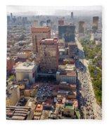 Mexico City Cityscape Fleece Blanket