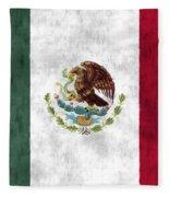 Mexico Flag Fleece Blanket