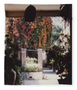 Mexico Garden Patio By Tom Ray Fleece Blanket