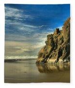 Meyers Beach Stacks Fleece Blanket