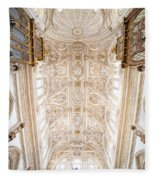 Mezquita Cathedral Ceiling In Cordoba Fleece Blanket