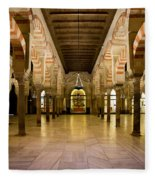 Mezquita Interior In Cordoba Fleece Blanket