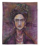 Mi Vida Mi Frida Fleece Blanket