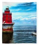 Miah Maull Shoal Lighthouse Fleece Blanket