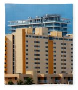 Miami Apartments Fleece Blanket
