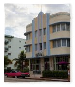 Miami Art Deco Fleece Blanket