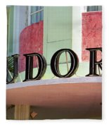 Miami Beach - Art Deco 11 Fleece Blanket