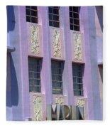 Miami Beach - Art Deco 12 Fleece Blanket