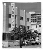 Miami Beach - Art Deco 24 Fleece Blanket