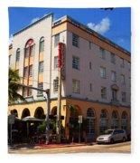 Miami Beach - Art Deco 36 Fleece Blanket