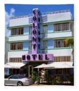 Miami Beach - Art Deco 37 Fleece Blanket