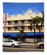 Miami Beach - Art Deco 38 Fleece Blanket