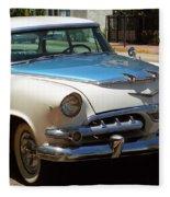 Miami Beach Classic Car 2 Fleece Blanket
