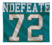 Miami Dolphins Undefeated Season Fleece Blanket