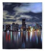 Miami Skyline Fleece Blanket