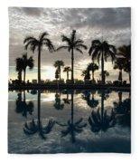 Miami Sunset Fleece Blanket