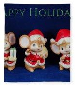 Mice Holiday Fleece Blanket