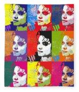 Michael Jackson Andy Warhol Style Fleece Blanket