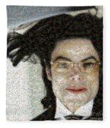 Michael Jackson - Fly Away Hair Mosaic Fleece Blanket