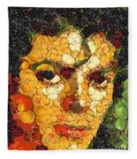 Michael Jackson In The Way Of Arcimboldo Fleece Blanket