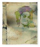 Michael Jackson Silhouette Fleece Blanket