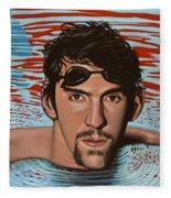 Michael Phelps Fleece Blanket