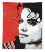 Michael Red And White Fleece Blanket