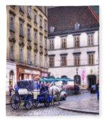 Michaelerplatz. Vienna Fleece Blanket