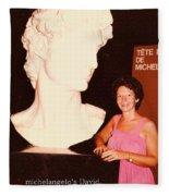 Michelangelos Statue Of David Fleece Blanket