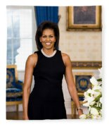 Michelle Obama Fleece Blanket