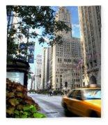 Michigan Avenue Chicago Illinois Fleece Blanket
