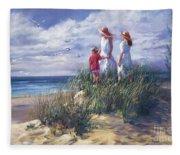 Michigan Shore Memories  Fleece Blanket
