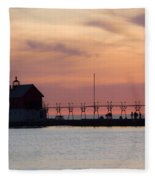 Michigan Sunset Fleece Blanket