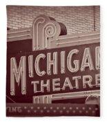 Michigan Theatre Fleece Blanket