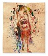 Mick Jagger Fleece Blanket