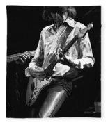 Mick In Flight 1977 Fleece Blanket