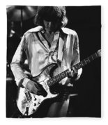 Mick On Guitar 1977 Fleece Blanket