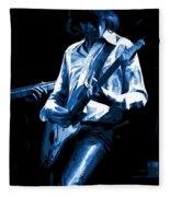 Mick Plays The Blues In Spokane 1977 Fleece Blanket