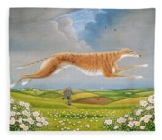 Mick The Miller, 1992 Oils And Tempera On Panel Fleece Blanket