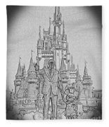 Mickey And Walt At The Park Fleece Blanket