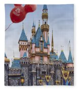 Mickey Mouse Balloon At Disneyland Fleece Blanket