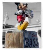 Mickey On A Post Fleece Blanket